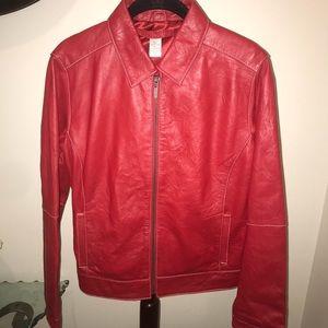 Chico's soft leather jacket